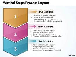 Business PowerPoint Templates vertical steps process layout Sales PPT Slides