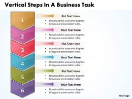 Business PowerPoint Templates vertical steps task Sales PPT Slides