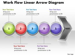 Business PowerPoint Templates work flow linear arrow diagram Sales PPT Slides 5 stages