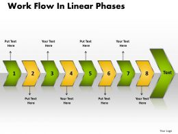 Business PowerPoint Templates work flow linear phases Sales PPT Slides 8 stages