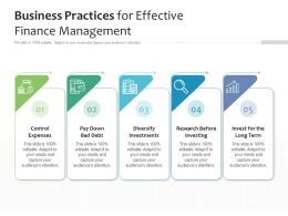Business Practices For Effective Finance Management