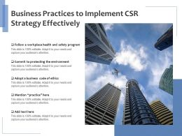Business Practices To Implement CSR Strategy Effectively