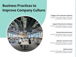 Business Practices To Improve Company Culture