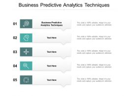 Business Predictive Analytics Techniques Ppt Powerpoint Presentation Infographic Template Cpb