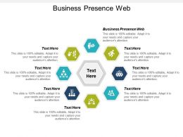 Business Presence Web Ppt Powerpoint Presentation Icon Guidelines Cpb