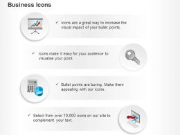 Business Presentation And Pie Chart Key To Success Ppt Icons Graphics