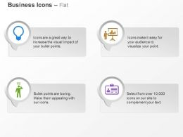 Business Presentation Bulb Identity Card Ppt Icons Graphics