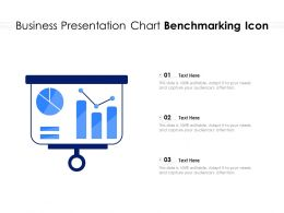 Business Presentation Chart Benchmarking Icon