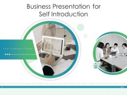 Business Presentation For Self Introduction Powerpoint Presentation Slides