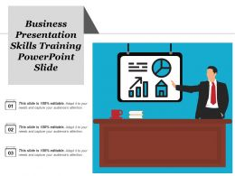 Business Presentation Skills Training Powerpoint Slide