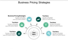 Business Pricing Strategies Ppt Powerpoint Presentation Slides Good Cpb