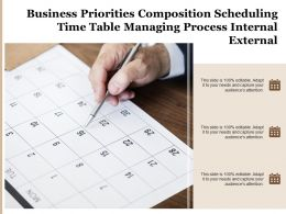 Business Priorities Composition Scheduling Time Table Managing Process Internal External