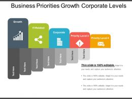 Business Priorities Growth Corporate Levels