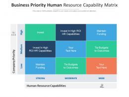 Business Priority Human Resource Capability Matrix