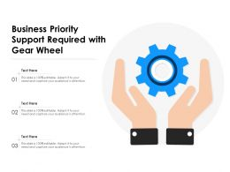 Business Priority Support Required With Gear Wheel