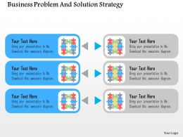 Business Problem And Solution Strategy Flat Powerpoint Design