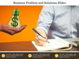 Business Problem And Solutions Slides