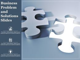 Business Problem And Solutions Slides Ppt