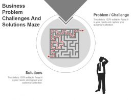 Business Problem Challenges And Solutions Maze Powerpoint Presentation Templates
