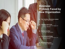 Business Problem Faced By New Organization