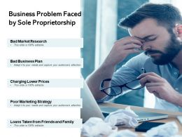 Business Problem Faced By Sole Proprietorship