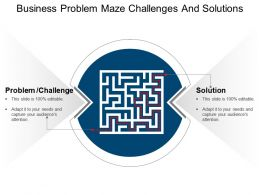 Business Problem Maze Challenges And Solutions Powerpoint Templates