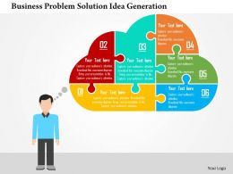 business_problem_solution_idea_generation_flat_powerpoint_design_Slide01