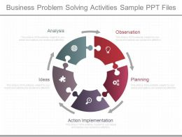 Business Problem Solving Activities Sample Ppt Files