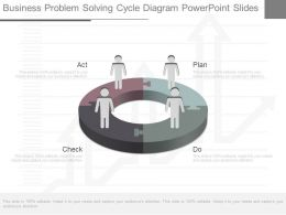 Business Problem Solving Cycle Diagram Powerpoint Slides