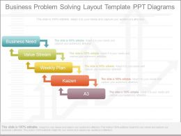 Business Problem Solving Layout Template Ppt Diagrams