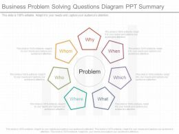 Business Problem Solving Questions Diagram Ppt Summary