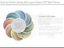 Business Problem Solving Skills Layout Diagram Ppt Slide Themes