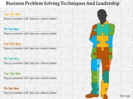Business Problem Solving Techniques And Leadership Flat Powerpoint Design