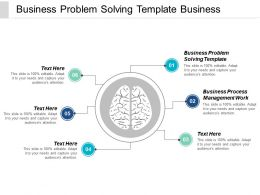 Business Problem Solving Template Business Process Management Work Cpb