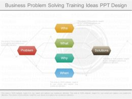 Business Problem Solving Training Ideas Ppt Design