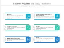 Business Problems And Scope Justification