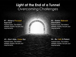 Business Problems And Solution Light at End of Tunnel Overcoming Difficulties Challenges