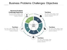 Business Problems Challenges Objectives Ppt Powerpoint Presentation Portfolio Inspiration Cpb
