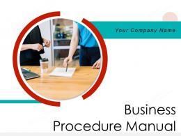 Business Procedure Manual Powerpoint Presentation Slides