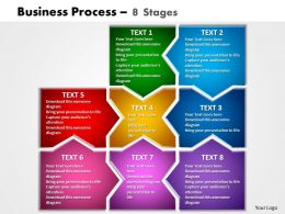 business process 8 stages powerpoint templates graphics slides 0712