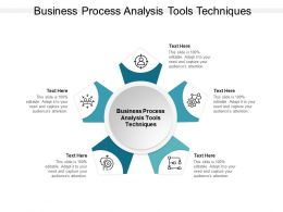 Business Process Analysis Tools Techniques Ppt Powerpoint Presentation Slides Cpb