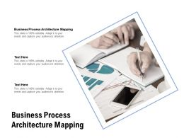 Business Process Architecture Mapping Ppt Powerpoint Presentation Cpb