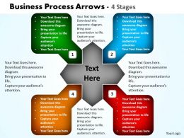 Business Process Arrows 4 Stages 10