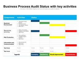 Business Process Audit Status With Key Activities