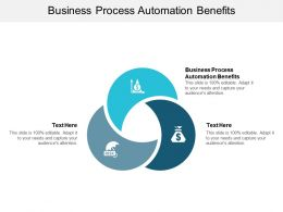 Business Process Automation Benefits Ppt Powerpoint Presentation Inspiration Infographics Cpb