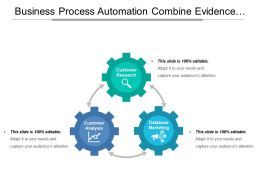 Business Process Automation Combine Evidence Customer Analysis