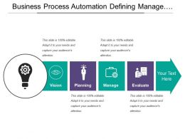 Business Process Automation Defining Manage Evaluation