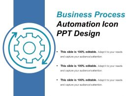 Business Process Automation Icon Ppt Design