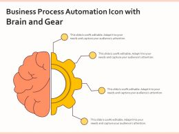 Business Process Automation Icon With Brain And Gear