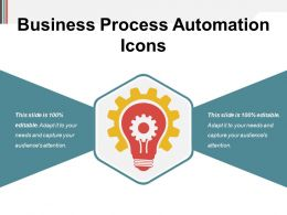 Business Process Automation Icons Powerpoint Shapes
